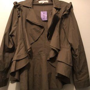 Army green Blazer jacket